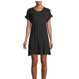Current/Elliott The Pintucked Short-Sleeve Dress